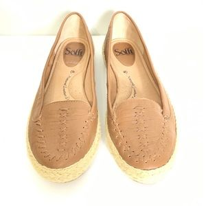 SOFFT T Leather Brown Flats Slip On Comfort 8.5 M